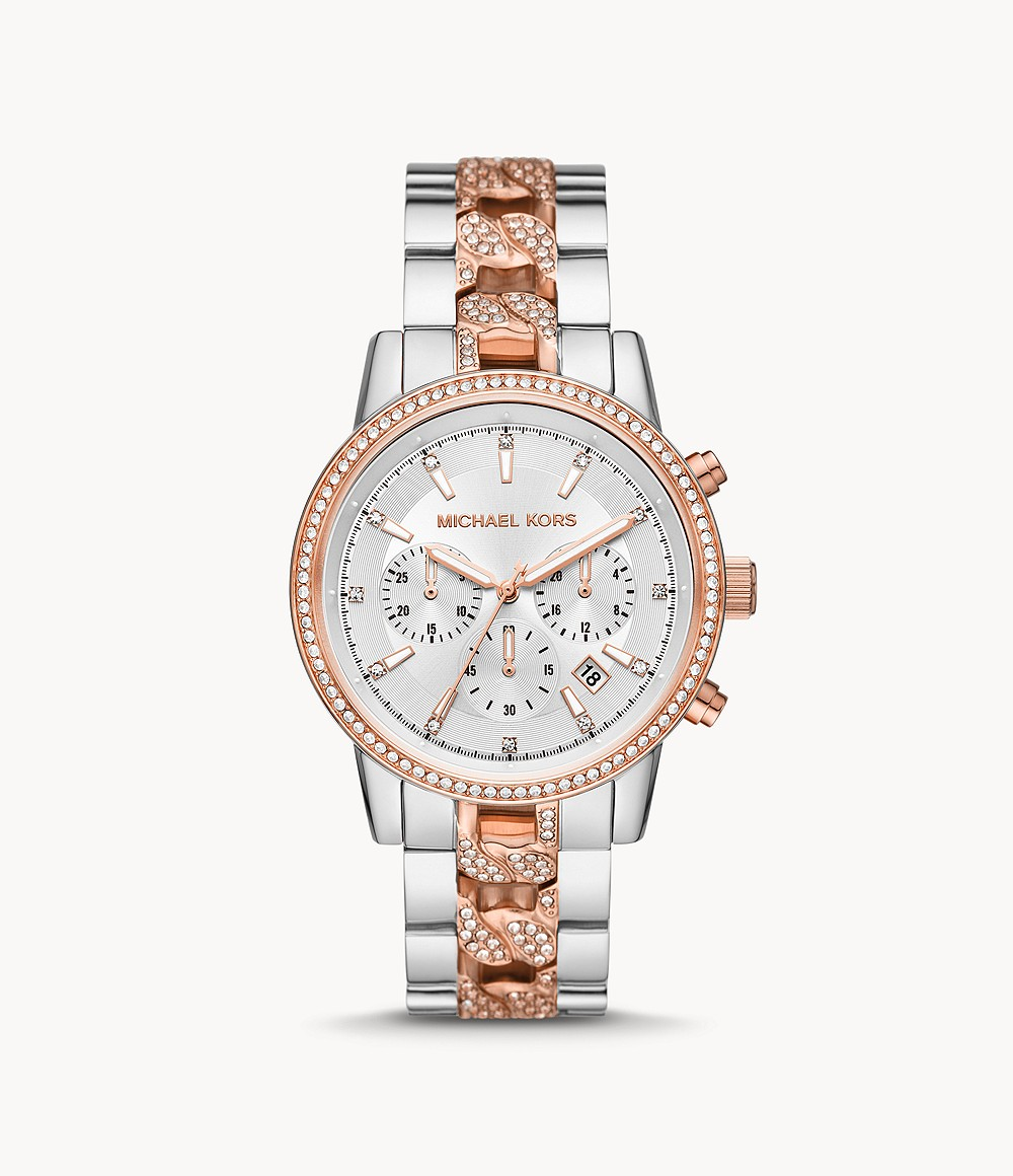 Michael Kors Ritz Chronograph Two-Tone Stainless Steel