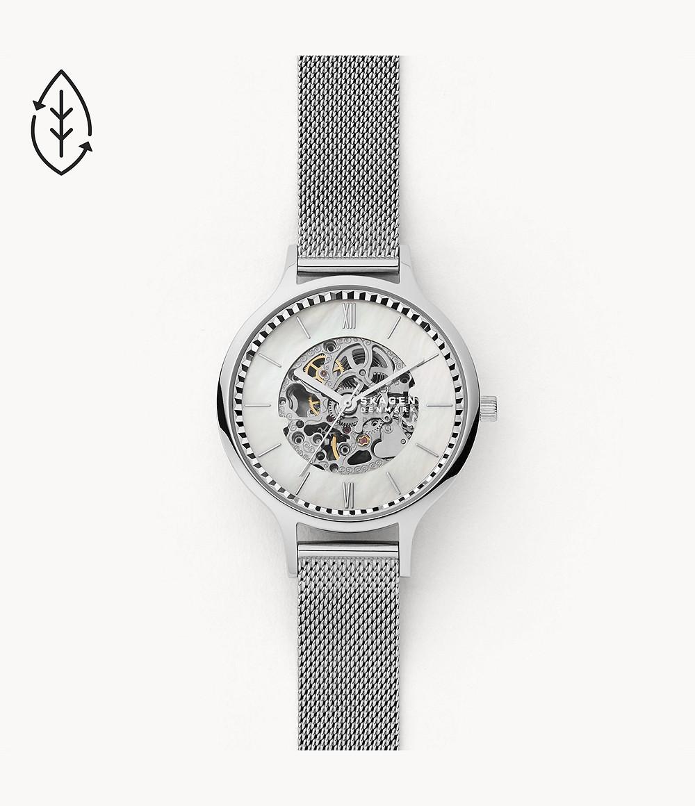Skagen Anita Automatic Silver-Tone Steel-Mesh