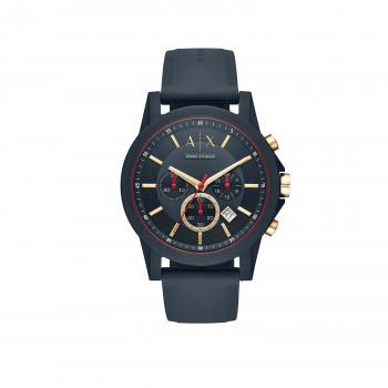 Armani Exchange Chronograph Blue Silicone Watch
