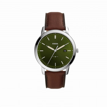 The Minimalist Solar-Powered Dark Brown Leather Watch