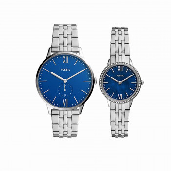 HIs and Her Three-Hand Stainless Steel Watch Set