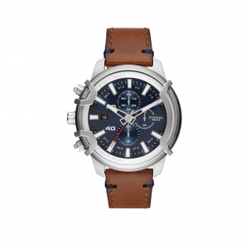 Diesel Griffed Chronograph Brown Leather