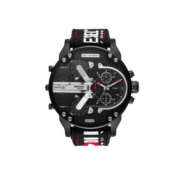 Diesel Mr. Daddy 2.0 Chronograph Black Nylon and Silicone
