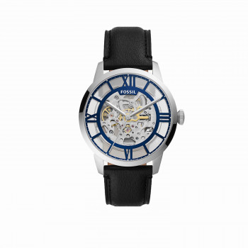 44mm Townsman Automatic Black Leather Watch