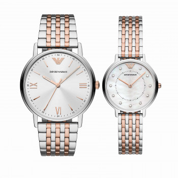 Emporio Armani Two-Tone Stainless Steel Watch Set