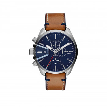 Diesel Men's MS9 Chronograph Brown Leather
