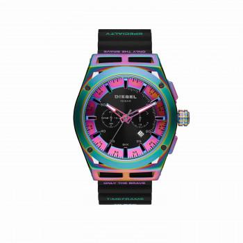 Diesel Timeframe Chronograph Black Silicone Watch