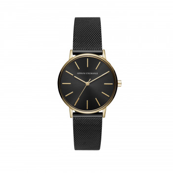 Armani Exchange Three-Hand Black Stainless Steel Watch