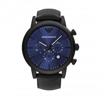Emporio Armani Chronograph Black Leather