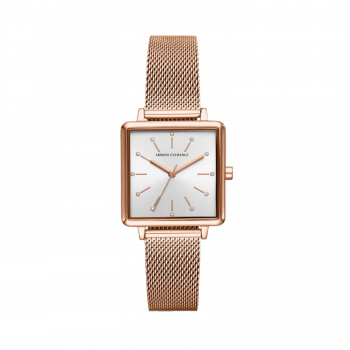 Armani Exchange Three-Hand Rose Gold-Tone Stainless Steel