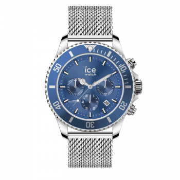 ICE steel mesh blue chrono