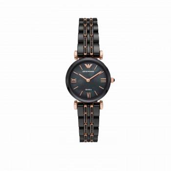 Emporio Armani Two-Hand Black Ceramic Watch