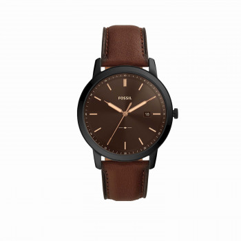 The Minimalist Solar-Powered Brown Leather Watch
