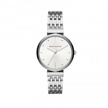 Armani Exchange Three-Hand Stainless Steel Watch