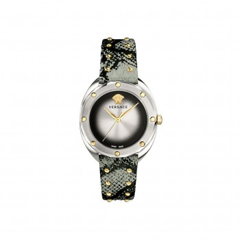 Versace Ladies Shadov Watch Grey Snake Pattern Strap