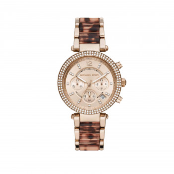 Michael Kors Parker chronograph Pale Rose Stainless Steel with Acetate