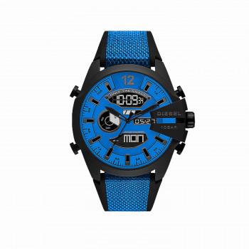 Diesel Mega Chief Analog-Digital Blue Nylon and Silicone Watch
