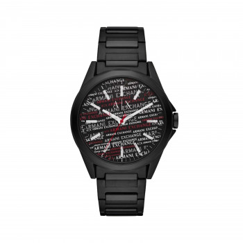 Armani Exchange Three-Hand Black Stainless Steel