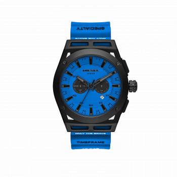 Diesel Timeframe Chronograph Blue Silicone Watch